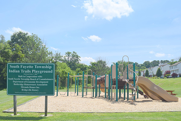 Playground with Sign