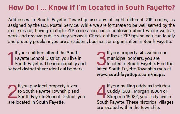 ZIP Codes | South Fayette Township, PA - Official Website on map multiple address, map multiple addresses, map multiple cities,