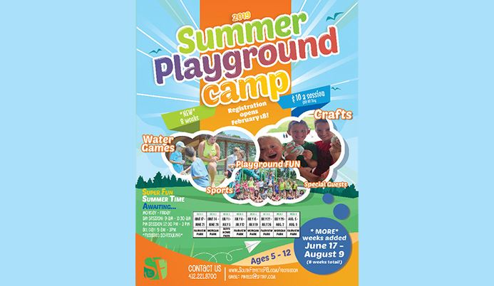 Summer Playground Camp 2019 Colorful Text
