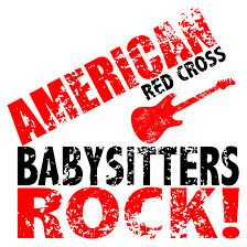 American Red Cross Babysitters Rock with guitar image
