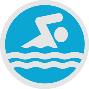 Stick figure swimming image