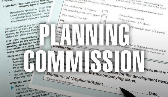 planning commission with documents