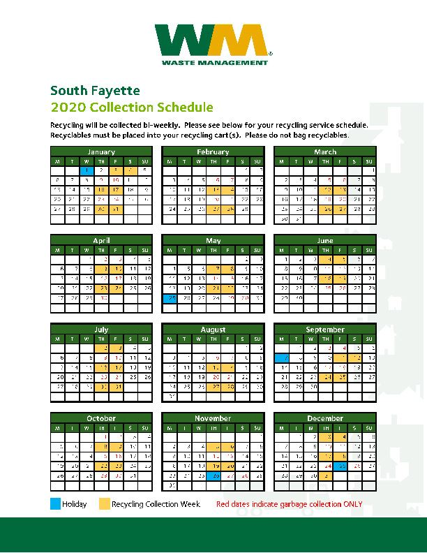 2020 Trash and Recycling Collection Calendar and Guide_Page_1