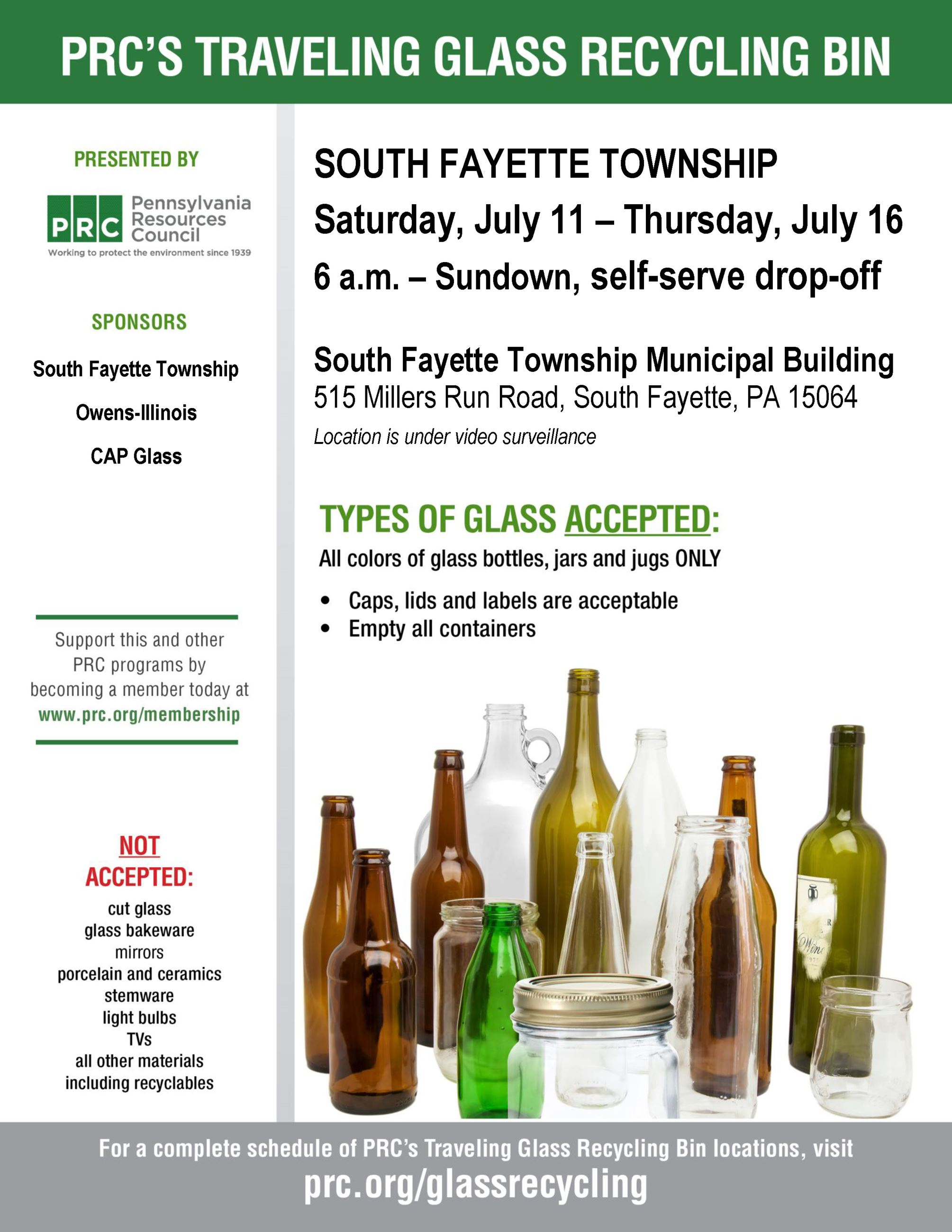 Glass Recycling Flyer July 2020