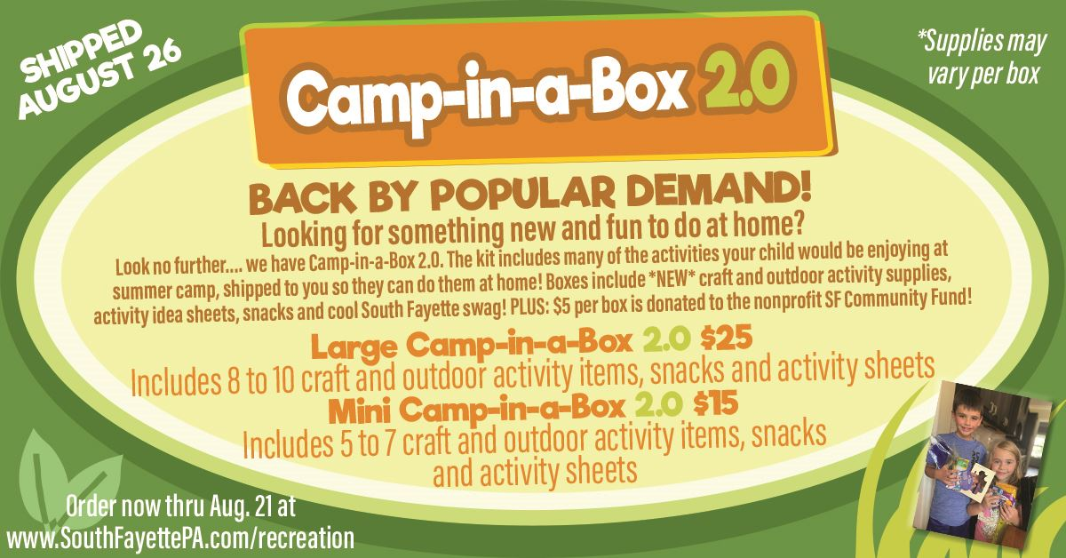 Camp in a Box 2.0 Flyer