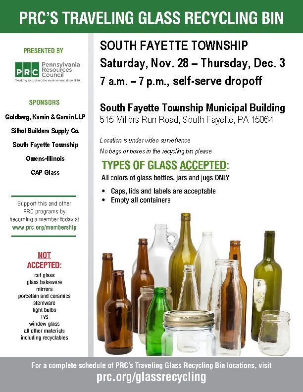 Glass Recycling Flyer Winter 2020