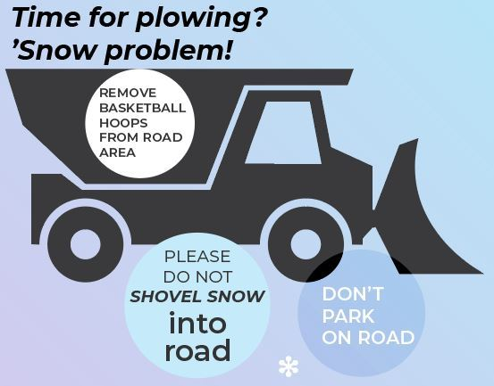 Snow plow tips infographic