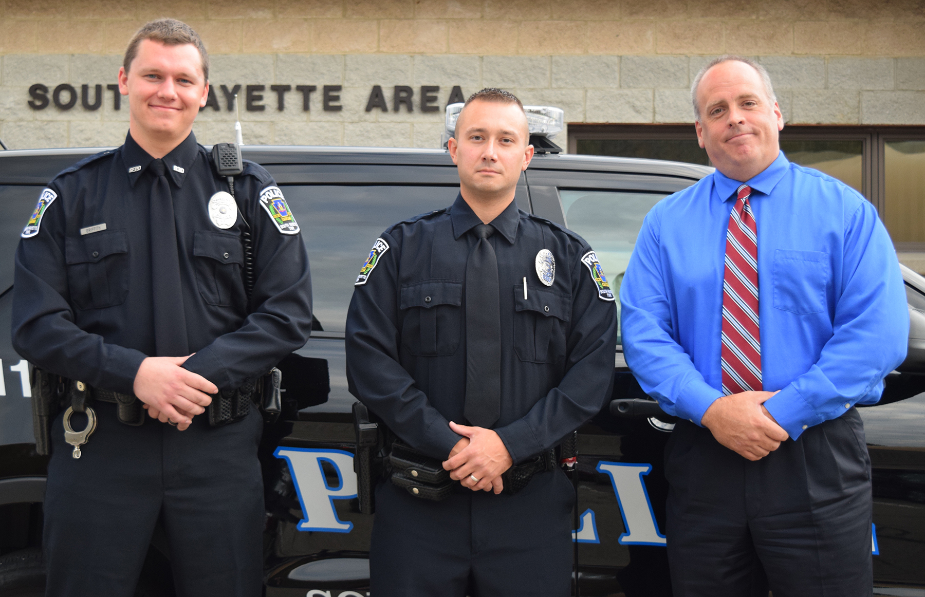 South Fayette Township police officers Griffith, Monyak and Handerhan